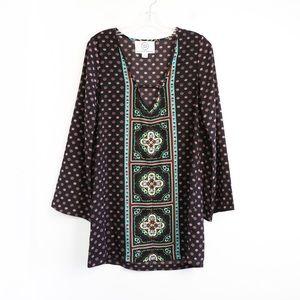 Sloane Rouge Anthropologie boho tunic dress ethnic